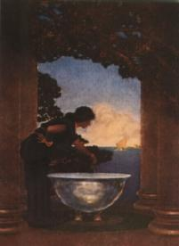 Circes -- by Maxfield Parrish