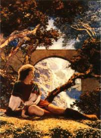 The Knave -- by Maxfield Parrish