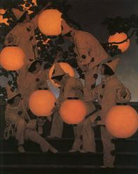 The Lantern Bearers by Maxfield Parrish -- Are we the light bearers, or the innocent fool?