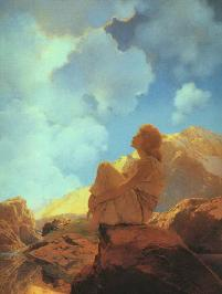 Morning Spring -- by Maxfield Parrish