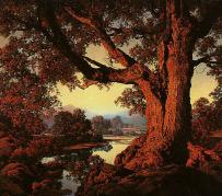 The Riverbank -- by Maxfield Parrish