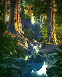 The Glen by Maxfield Parrish