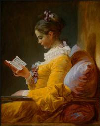 Young Girl Reading by Jean-Honore Fragonard  -- Maybe she's studing tarot?